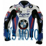 BMW TYCO MOTORBIKE,MOTORCYCLE/MOTGP RACING LEATHER JACKET 100% COWHIDE